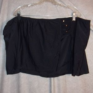 Other - Plus Size Black Skirted swim bottoms swim skirt